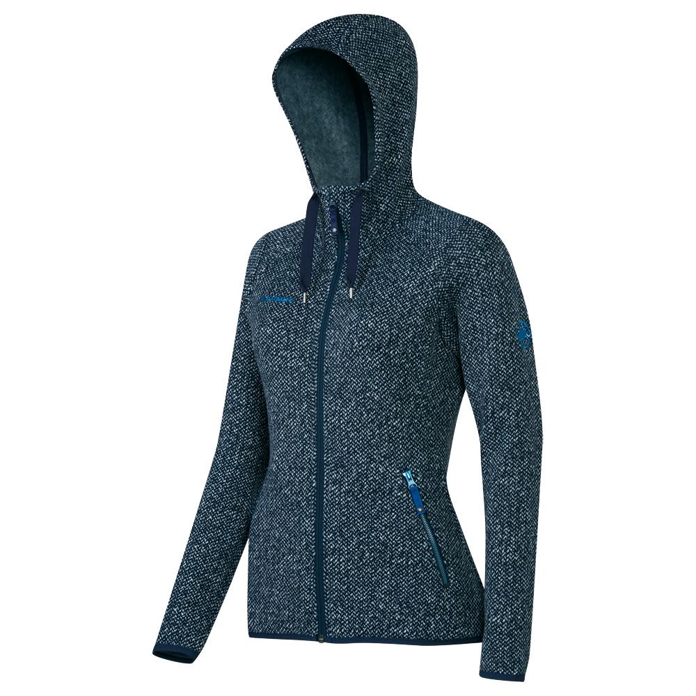 mammut kira tour ml hooded jacket women damen strickfleece. Black Bedroom Furniture Sets. Home Design Ideas